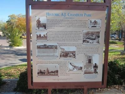 Historic A. J. Chandler Park Marker - Side A image. Click for full size.