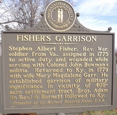 Fisher's Garrison Marker image. Click for full size.