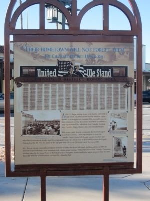 The Chandler District Honor Roll Marker - Side B image. Click for full size.