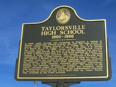Taylorsville High School Marker image. Click for full size.