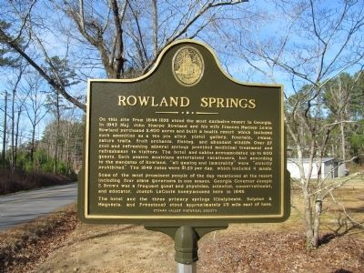 Rowland Springs Marker image. Click for full size.
