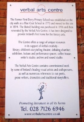Verbal Arts Centre Marker image. Click for full size.