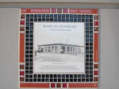 Bank of Chandler and Marker image. Click for full size.