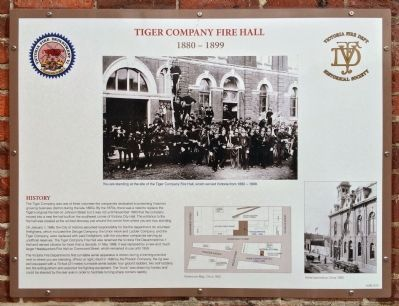 Tiger Company Fire Hall Marker image. Click for full size.