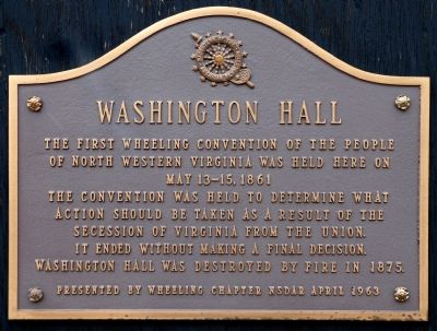 Washington Hall Marker image. Click for full size.