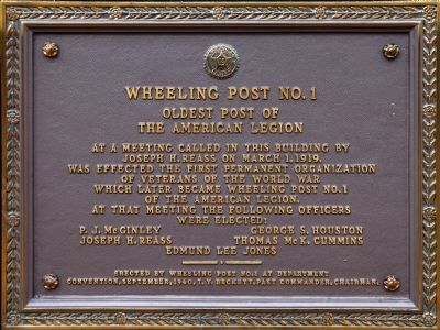 Wheeling Post No. 1 Marker image. Click for full size.