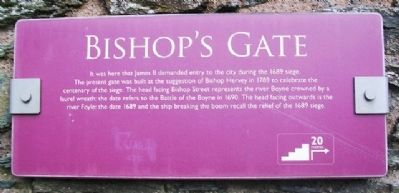 Bishop's Gate Marker image. Click for full size.