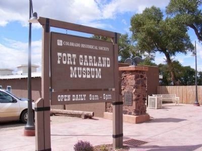 Fort Garland Museum Sign at the Entrance image. Click for full size.