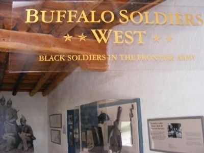 Fort Garland Museum-Buffalo Soldiers in the Frontier Army image. Click for full size.
