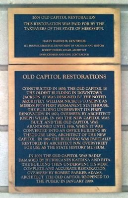 Old Capitol Restorations Plaque image. Click for full size.