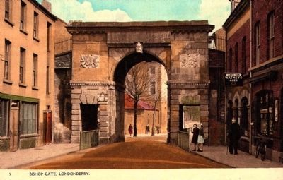 Bishop's Gate - Historical Postcard image. Click for full size.