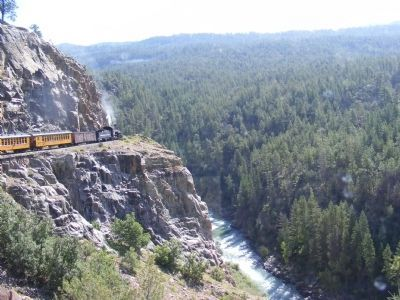 Durango and Silverton train ride through the wilderness image. Click for full size.