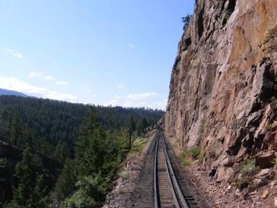 Durango and Silverton train ride on the narrow gauge track image. Click for full size.