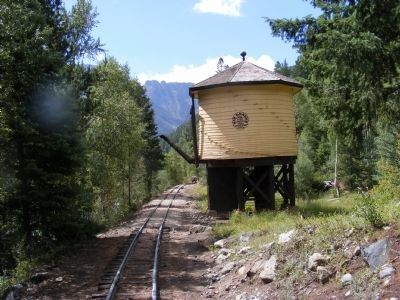 Durango and Silverton train ride-water tower image. Click for full size.