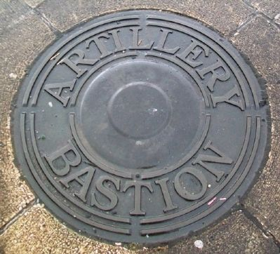 Artillery Bastion Marker (in ground) image. Click for full size.