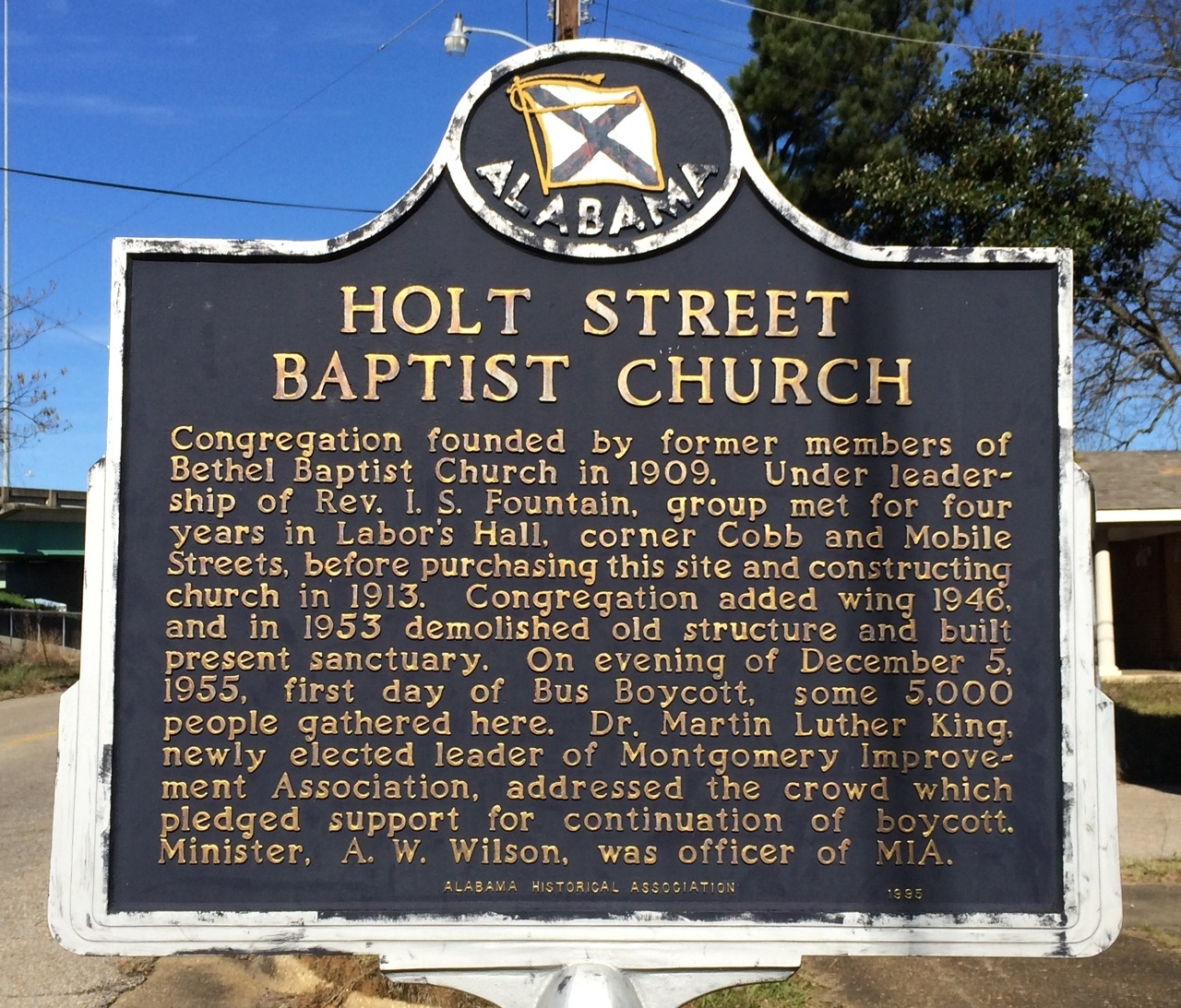 Holt Street Baptist Church Marker