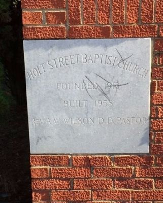 Holt Street Baptist Church Cornerstone image. Click for full size.
