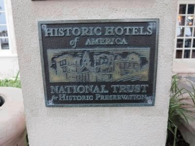 Historic Hotels of America plaque image. Click for full size.