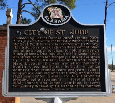 City of St. Jude Marker image. Click for full size.