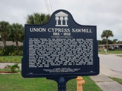 Union Cypress Sawmill Marker image. Click for full size.