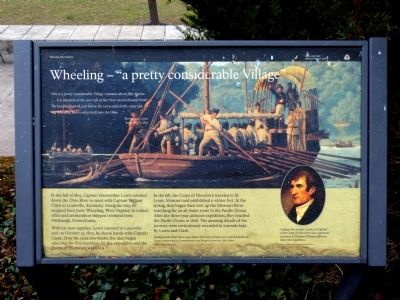 "Wheeling -- ""a pretty considerable Village"" Marker image. Click for full size."