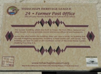 Former Post Office Marker image. Click for full size.