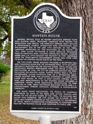 Hostess House Marker image. Click for full size.