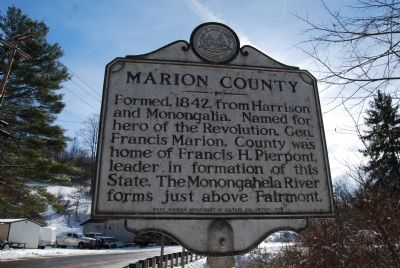 Marion County / Wetzel County Marker image. Click for full size.