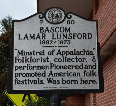 Bascom Lamar Lunsford Marker image. Click for full size.