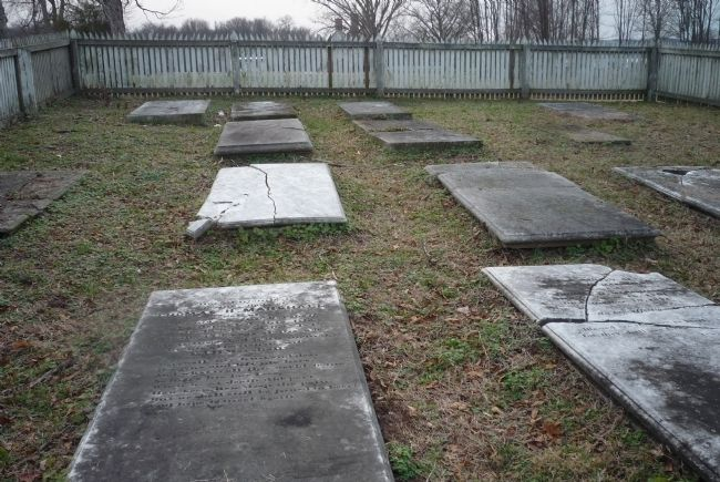 The Marshall Family Cemetery, looking south image. Click for full size.