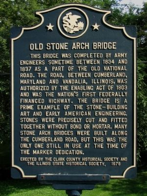 Old Stone Arch Bridge Marker image. Click for full size.