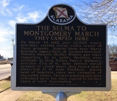 The Selma to Montgomery March Marker (Side 2) image. Click for full size.
