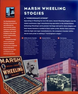 Marsh Wheeling Stogies Marker image. Click for full size.