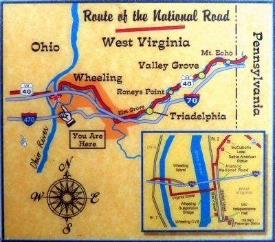 Route of the National Road -- West Virginia<br>You are Here image. Click for full size.