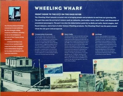 Wheeling Wharf Marker image. Click for full size.