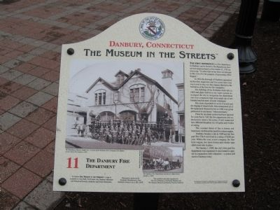 The Danbury Fire Department Marker image. Click for full size.