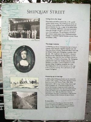 Shipquay Street Marker image. Click for full size.