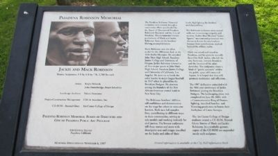 Pasadena Robinson Memorial Marker image. Click for full size.