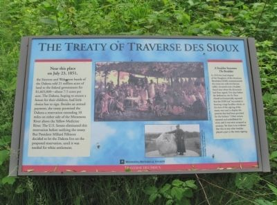 The Treaty of Traverse des Sioux Marker image. Click for full size.