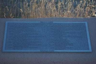 Cuarto Centenario Memorial Marker - Families Accompanying Oñate in 1598 image. Click for full size.