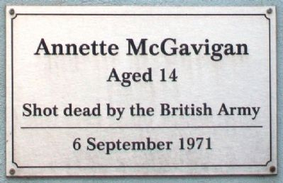 Annette McGavigan Marker image. Click for full size.