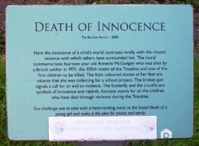 Death of Innocence Marker image. Click for full size.