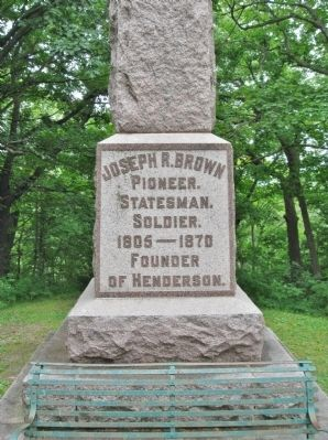 Joseph R. Brown State Monument image. Click for full size.