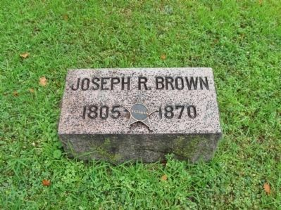 Joseph R. Brown Grave Stone image. Click for full size.