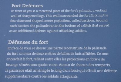 Fort Defences Marker image. Click for full size.