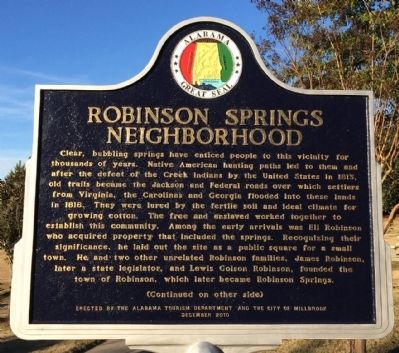Robinson Springs Neighborhood Marker image. Click for full size.