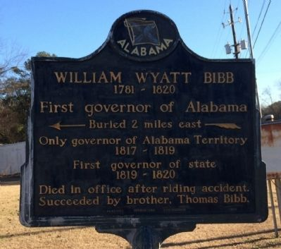 William Wyatt Bibb Marker image. Click for full size.