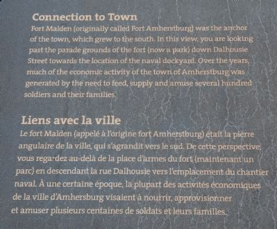 Connection to Town Marker image. Click for full size.