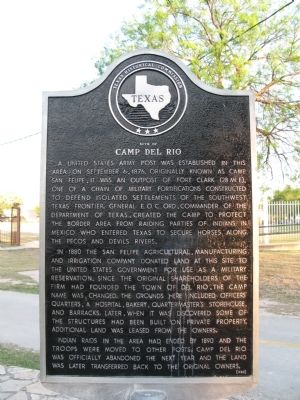 Site of Camp Del Rio Marker image. Click for full size.