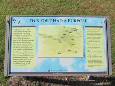 This Fort Had a Purpose Marker image. Click for full size.